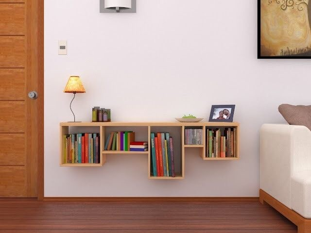Librero De Madera Moderno