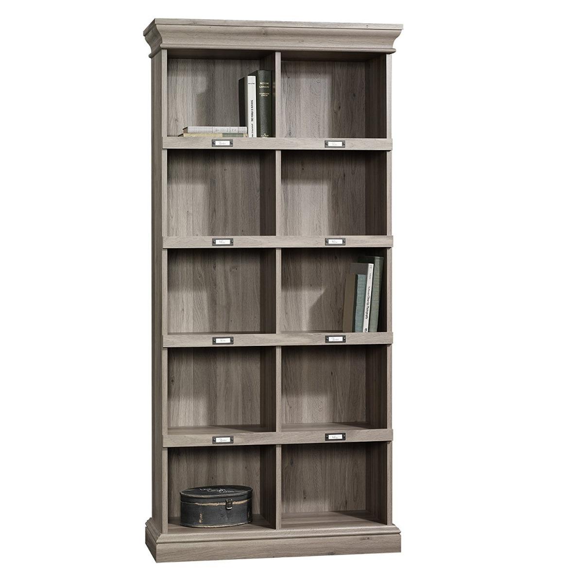 Librero de madera moderno alto sauder salt oak 8 300 - Libreros de madera modernos ...