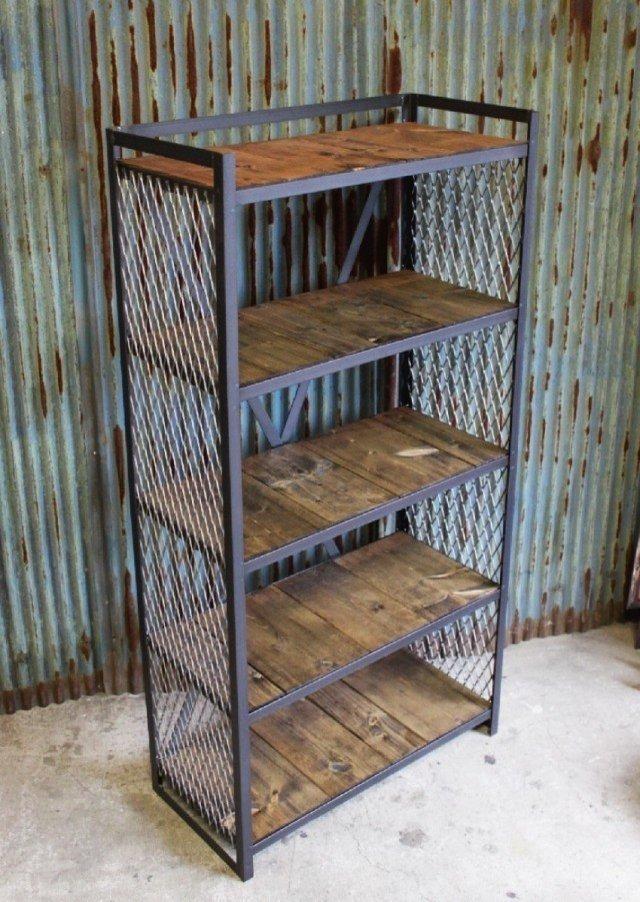 Librero De Metal Estanter 237 A Industrial Madera 5 510