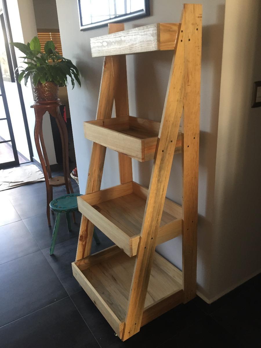 Librero escalera estante anaquel repisa madera for Repisa escalera