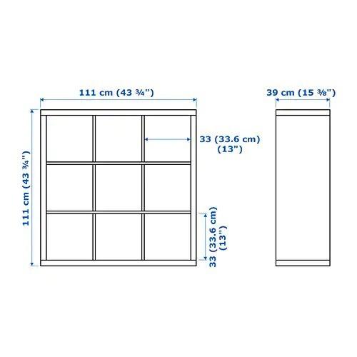 librero estante ikea para lp's kallax minimalista