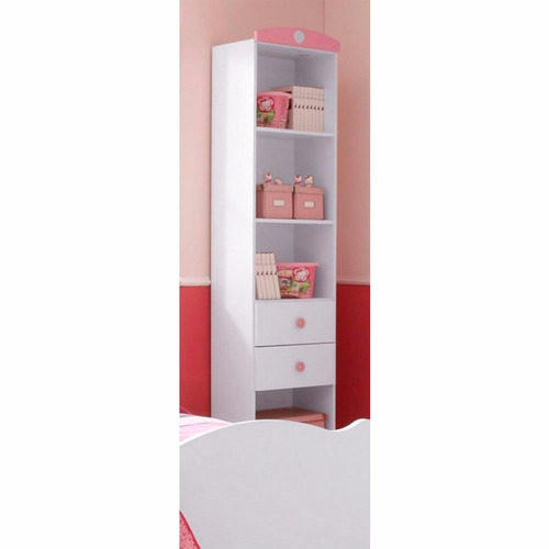 librero estante melamina para niña