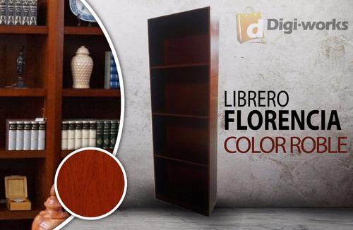 librero florencia color roble incluido iva