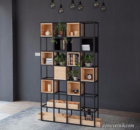 Librero herrer a madera hefesto 5 en mercado libre - Libreros de madera modernos ...