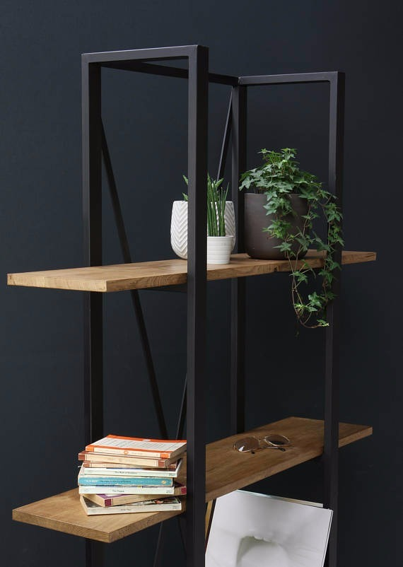 Librero minimalista herrer a madera hefesto 6 - Libreros de madera modernos ...