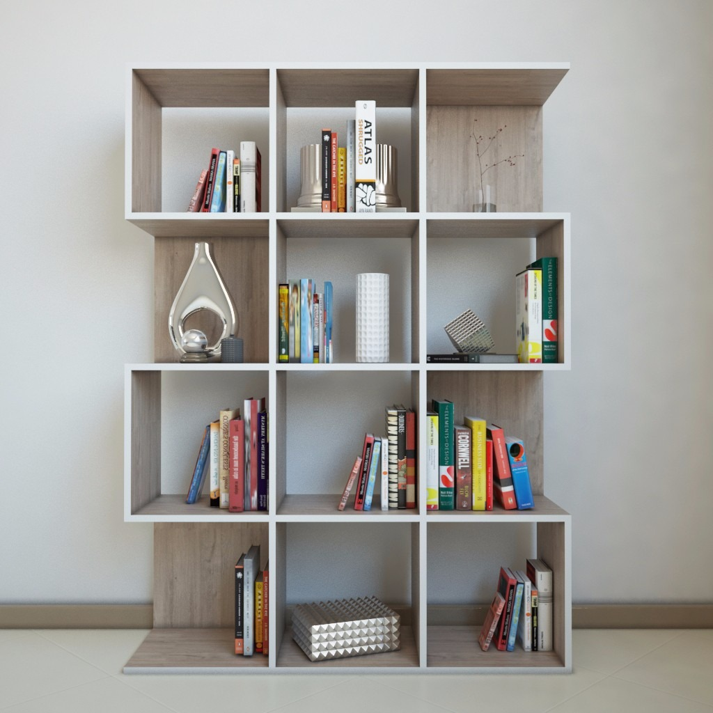 Librero minimalista moderno 2 en mercado libre for Muebles para libros modernos