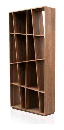 librero muasud nogal - inlab muebles