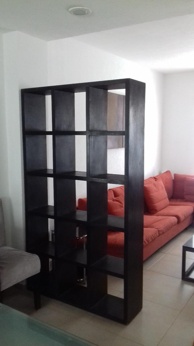 Librero Negro Mueble Divisor Sala Comedor Estudio Estante ...