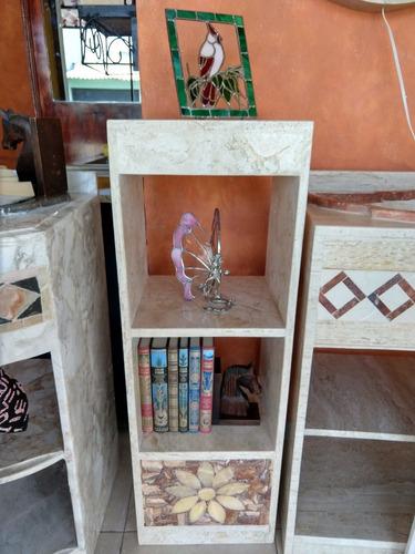 librero/ repisas, mueble de mármol-onix iluminado