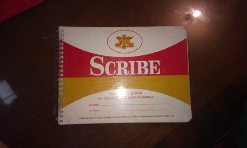 libreta antigua scribe 200 hojas vintage scribe 80s rayado