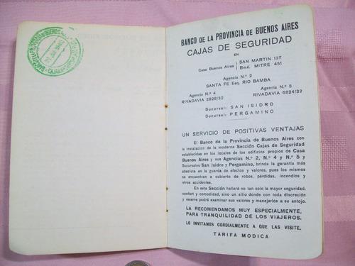 libreta banco de la provincia buenos aires año 1946