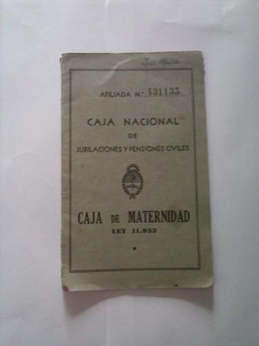 libreta caja de maternidad