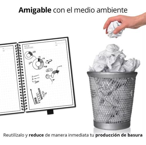 libreta cuaderno inteligente reutilizable 100 pag  3 plumas