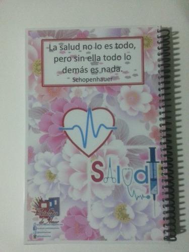 libreta diario agenda doctora enfermera salud medico