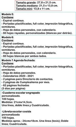 libreta diario agenda venezuela personalizada