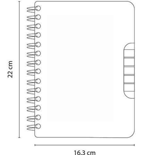 libreta ecológica con espiral y notas adheribles grandes