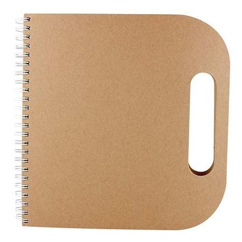 libreta ecológica tipo maletín con espiral y notas adherible