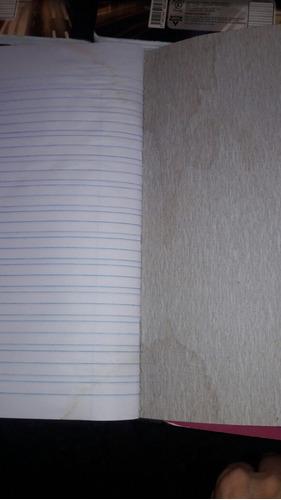 libreta escolar doble linea con detalle (precio 7 libretas)