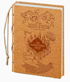 Libreta Harry Potter El Mapa Del Merodeador
