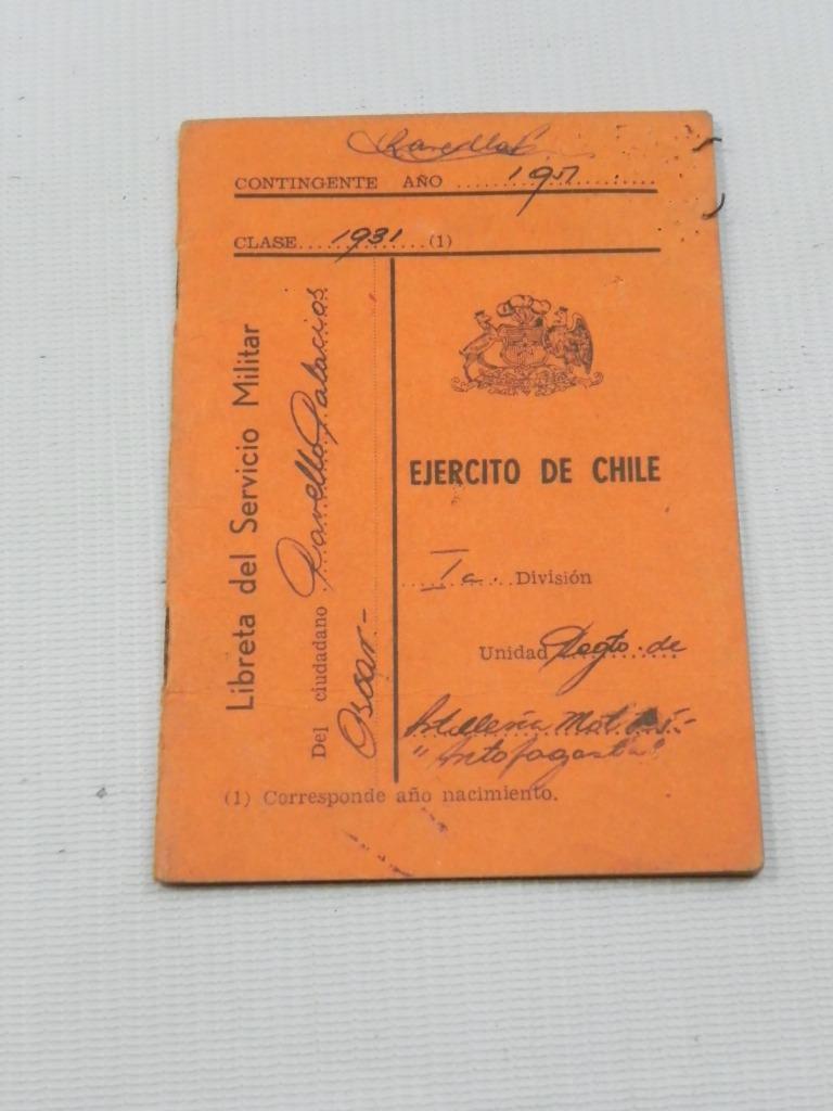 Tarjeta De Identificacion Militar Tim Ejercito De Chile en Mercado ...