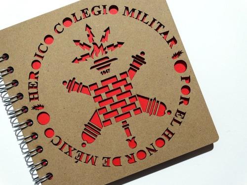 libreta madera corte láser méxico heroico colegio militar