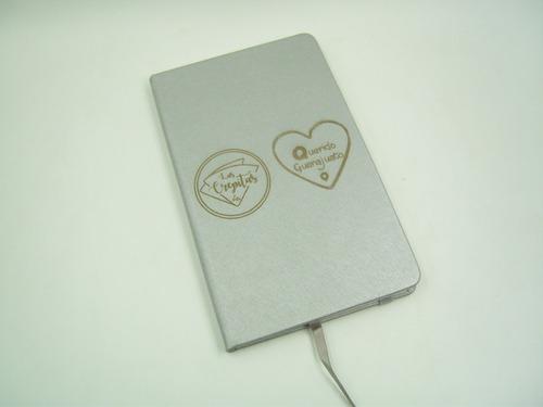 libreta moderna personalizada gratis con grabado láser