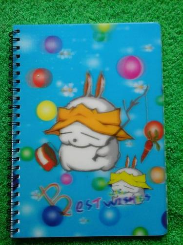 libreta para notas diseños infantiles 2d