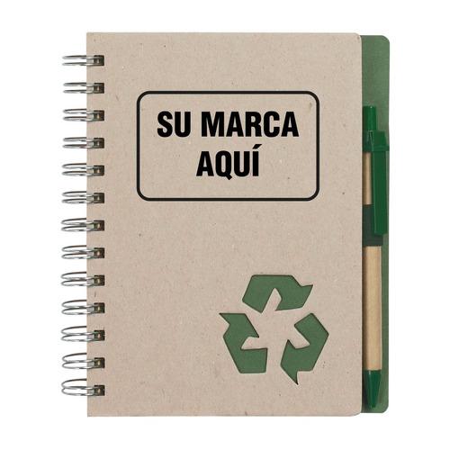 libretas agendas cuadernos bolígrafos lapiceros ecológicos