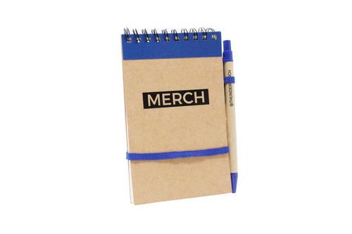 libretas ecológicas personalizadas con bolígrafo.