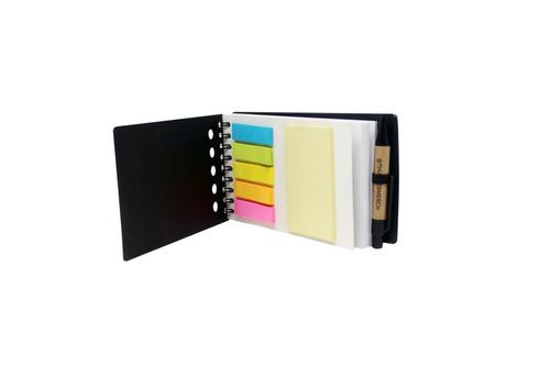 libretas mash personalizadas con post its y bolígrafo.