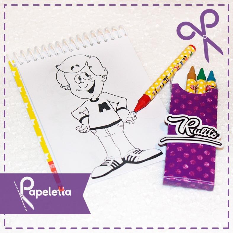 Libretas Para Colorear Y Lapices / Personalizados Cumpleaños - $ 900 ...