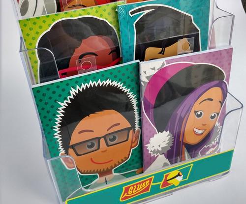 libretas personajes cursosco-gluep (tamaño 12x17cm, blancas)