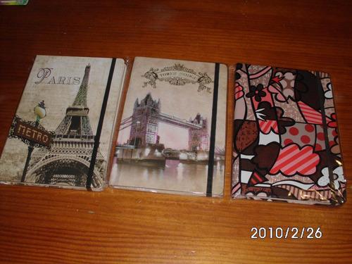 libretas tipo cuaderno vintage o flores