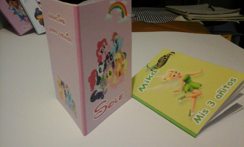 libretita personalizada c souvenir, tapa cartulina 20 hojas
