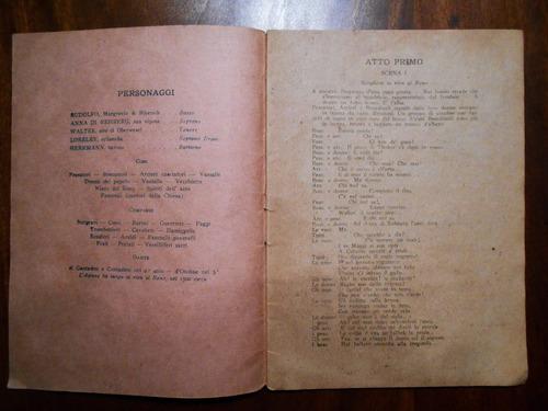 libreto antiguo letra de loreley de d ormeville y zanardini
