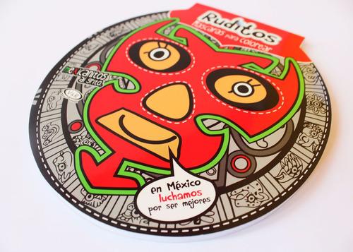 librito de máscaritas para colorear - ruditos