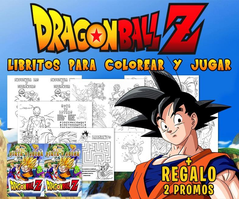 Librito Para Pintar Personalizado Dragon Ball Z Imprimible