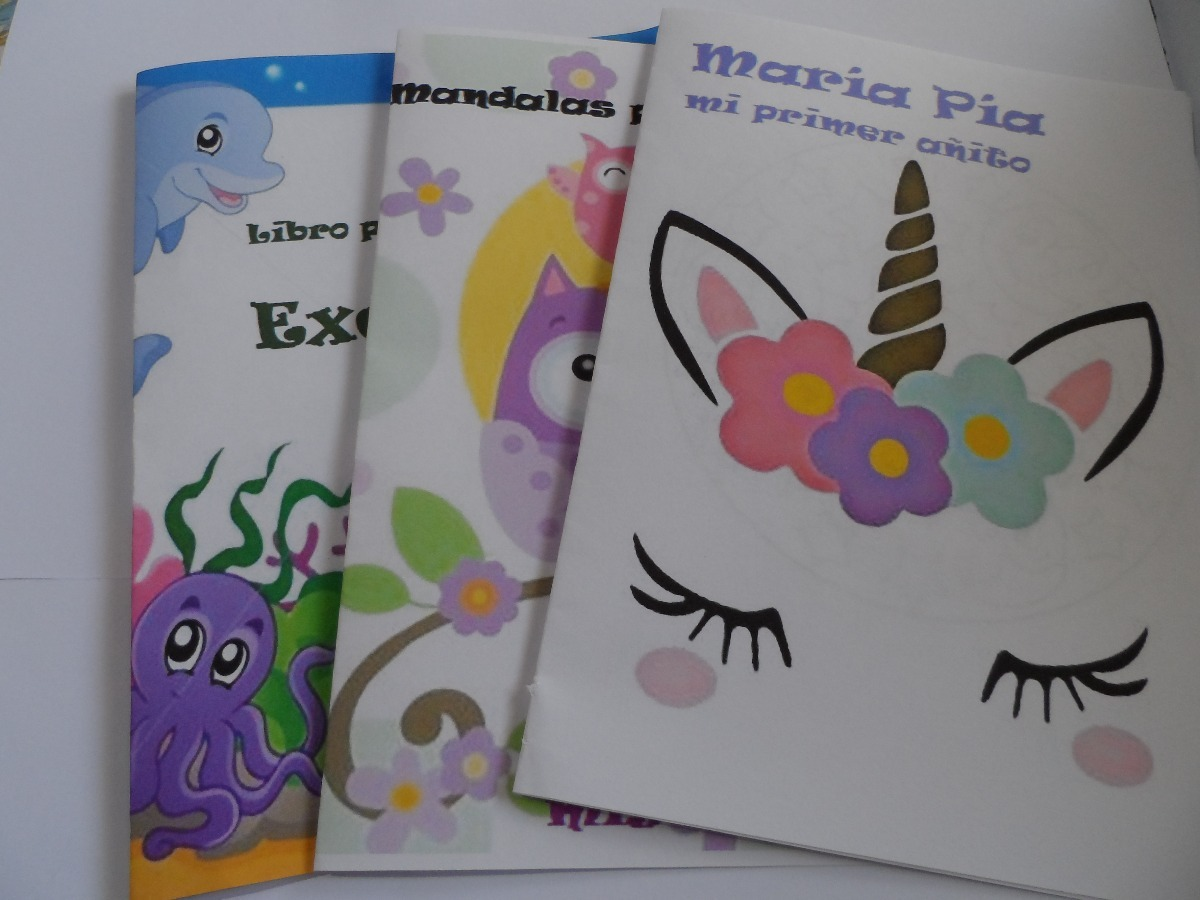 Librito Souvenir Colorear Personalizado + 6 Crayolas 10x14cm - $ 30 ...
