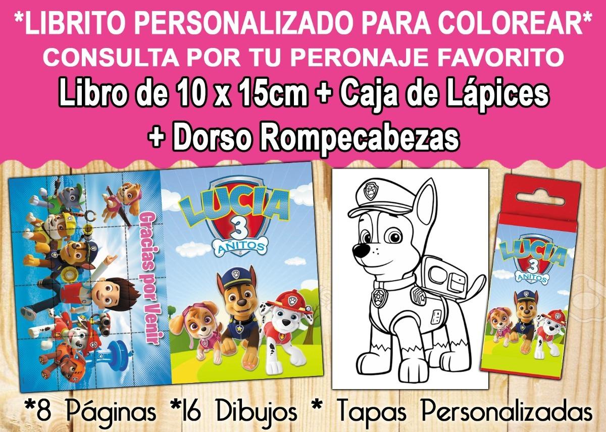 Libritos Colorear 10x15cm Lapices Personalizado Souvenir