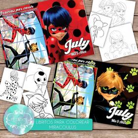 Libritos Colorear+stickers+rompecabezas Lady Bug Personaliza