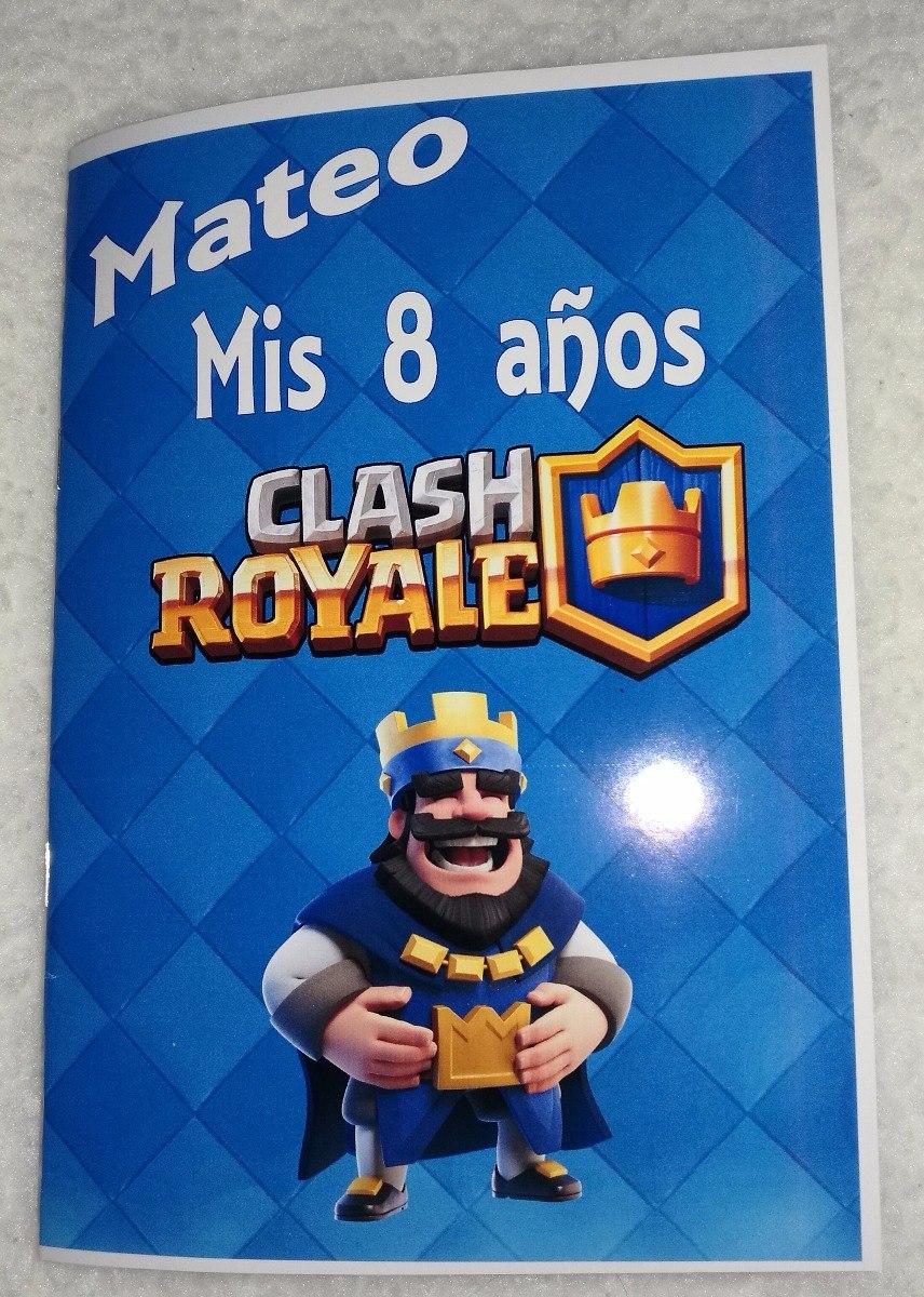 Libritos Para Colorear Temática Clash Royal Varón - $ 200,00 en ...