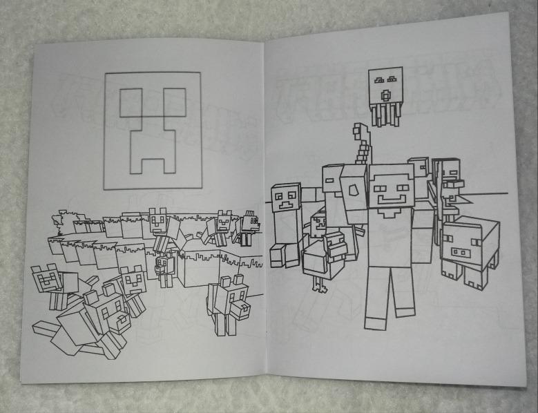Libritos Para Colorear Temática Minecraft