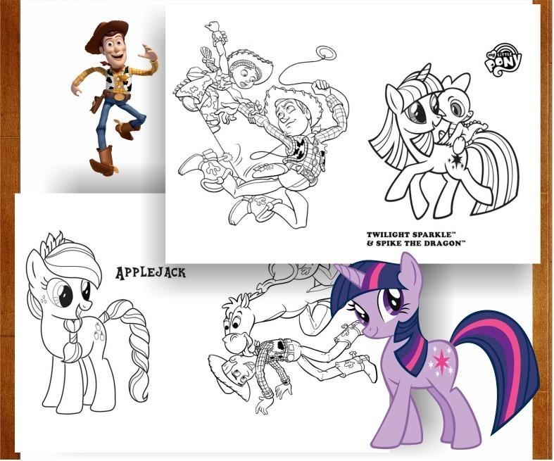 Libritos Pintar My Little Pony Toy Story Souvenir Imprimir - $ 65,00 ...