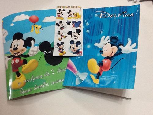 libritos souvenir personalizados para pintar x 10