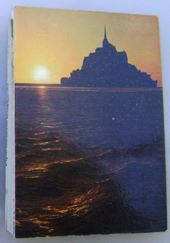 libro 10 postales monte-abadía san miguel francia - no envío