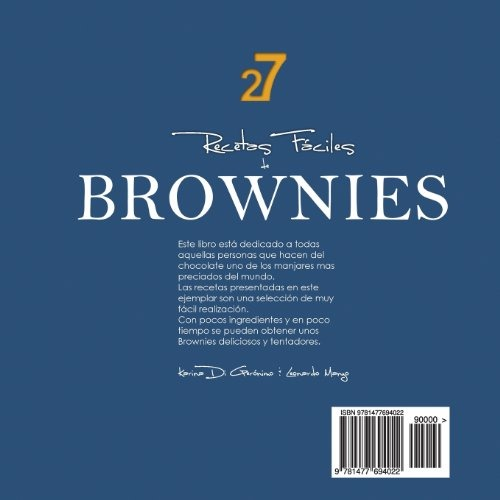 27 recetas faciles de brownies spanish edition