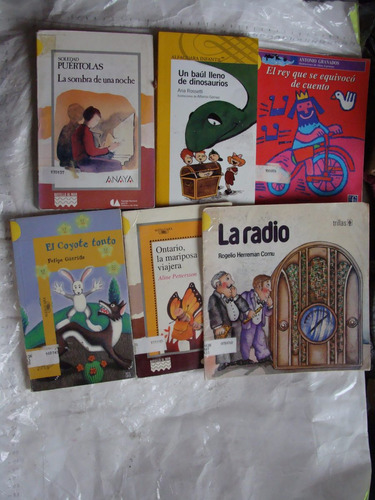 libro 6 libros infantil , botella de mar , un poco maltratad