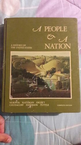 libro a people a nation. historia de estados unidos.