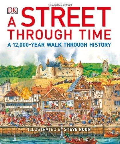 libro a street through time - nuevo
