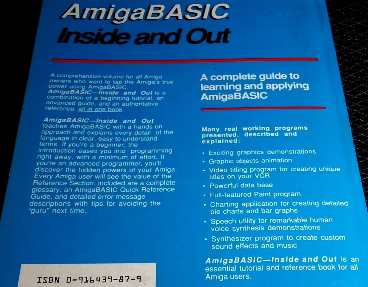 Libro Abacus Amiga Basic Inside And Out Commodore  - $ 35 000